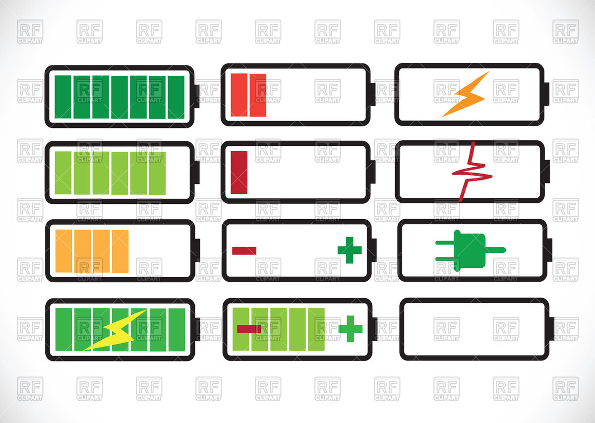 Free download best . Battery clipart vector
