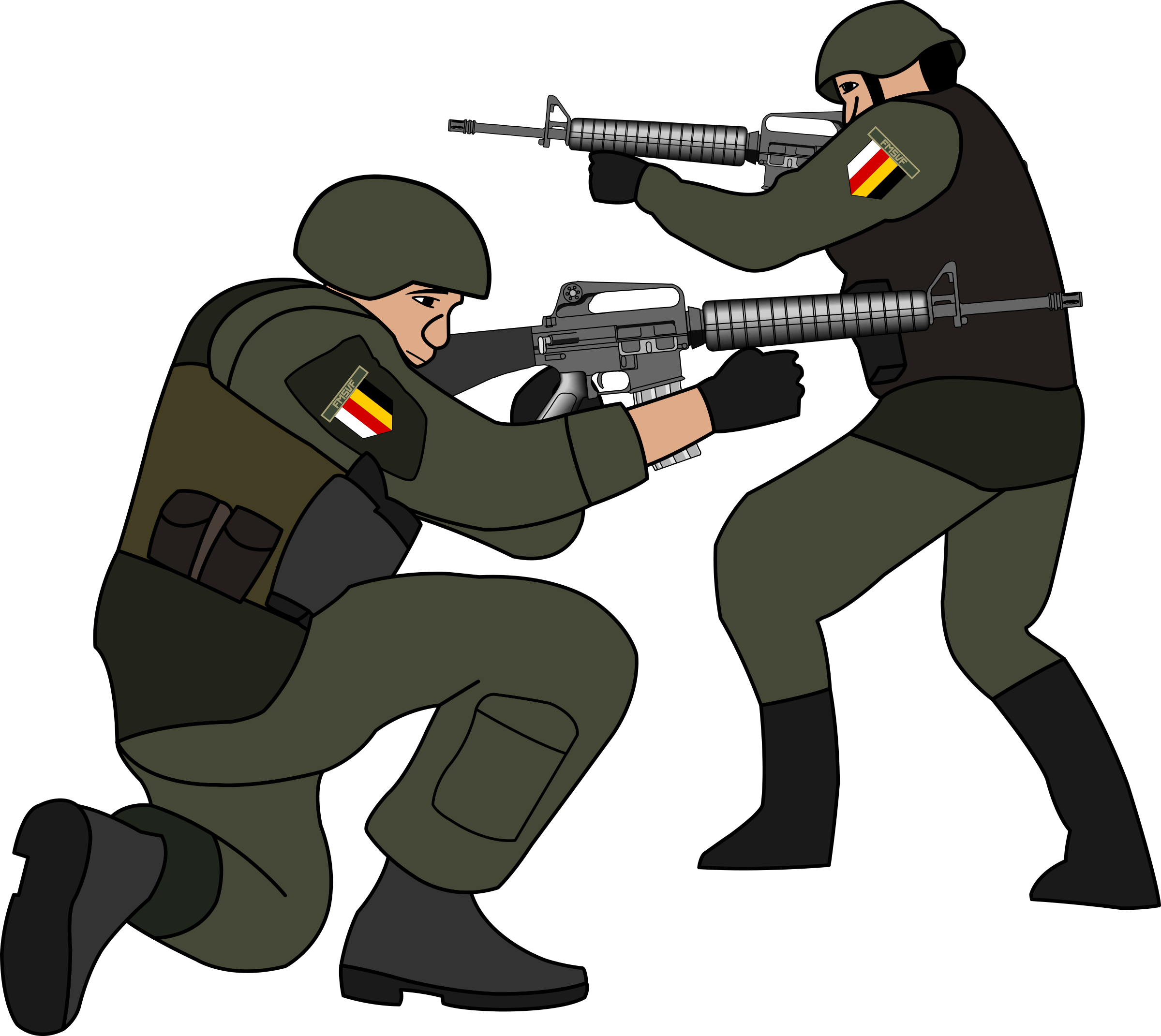 Battle clipart. Soldiers in big image