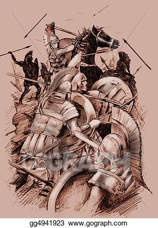 Battle clipart ancient battle. Clip art stock illustration