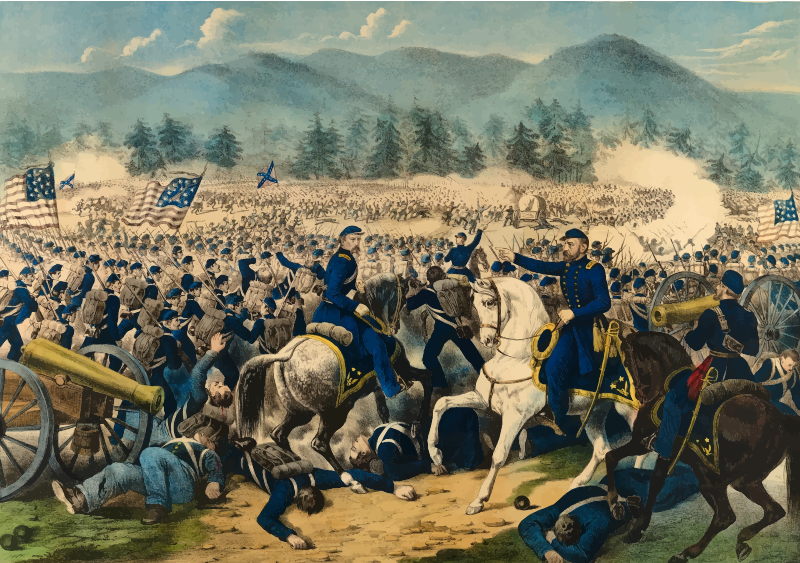 Battle clipart battle gettysburg. Of american civil war