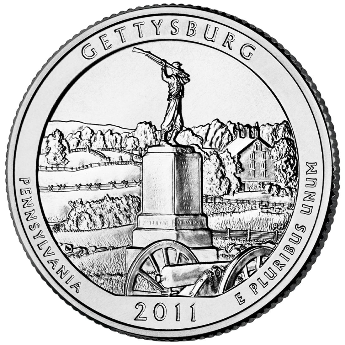 National military park quarter. Battle clipart battle gettysburg