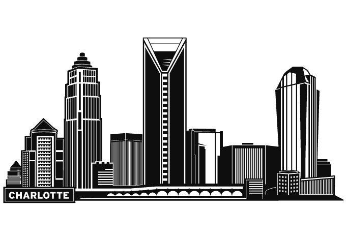 Battle clipart cityscape. Charlotte skyline silhouette google