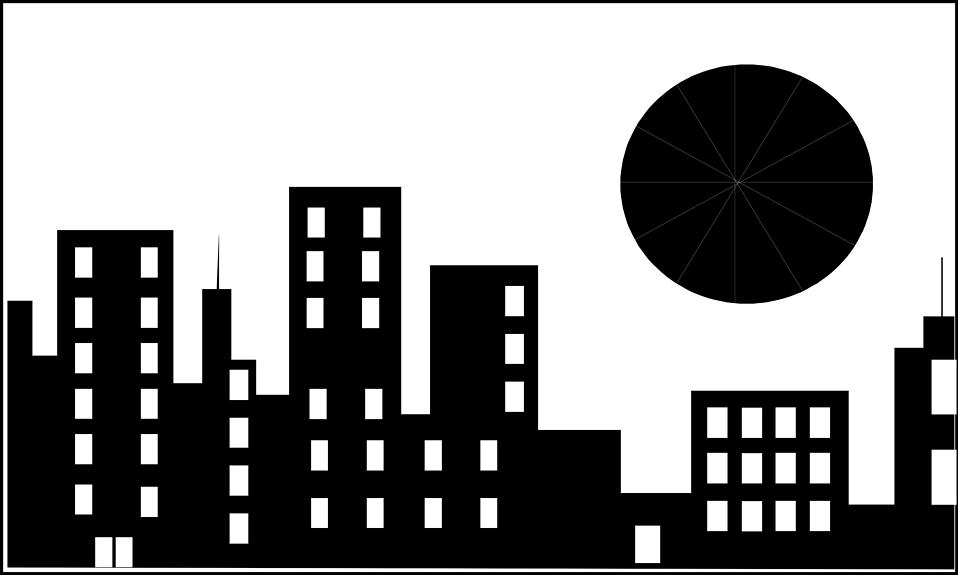 Gotham setting superhero free. Battle clipart cityscape
