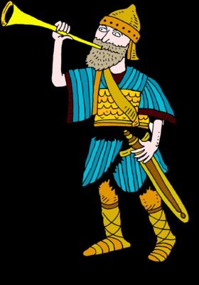 Battle clipart clip art. Image soldier sounding trumpet