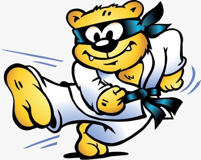Battle clipart combat. Martial arts bear pk