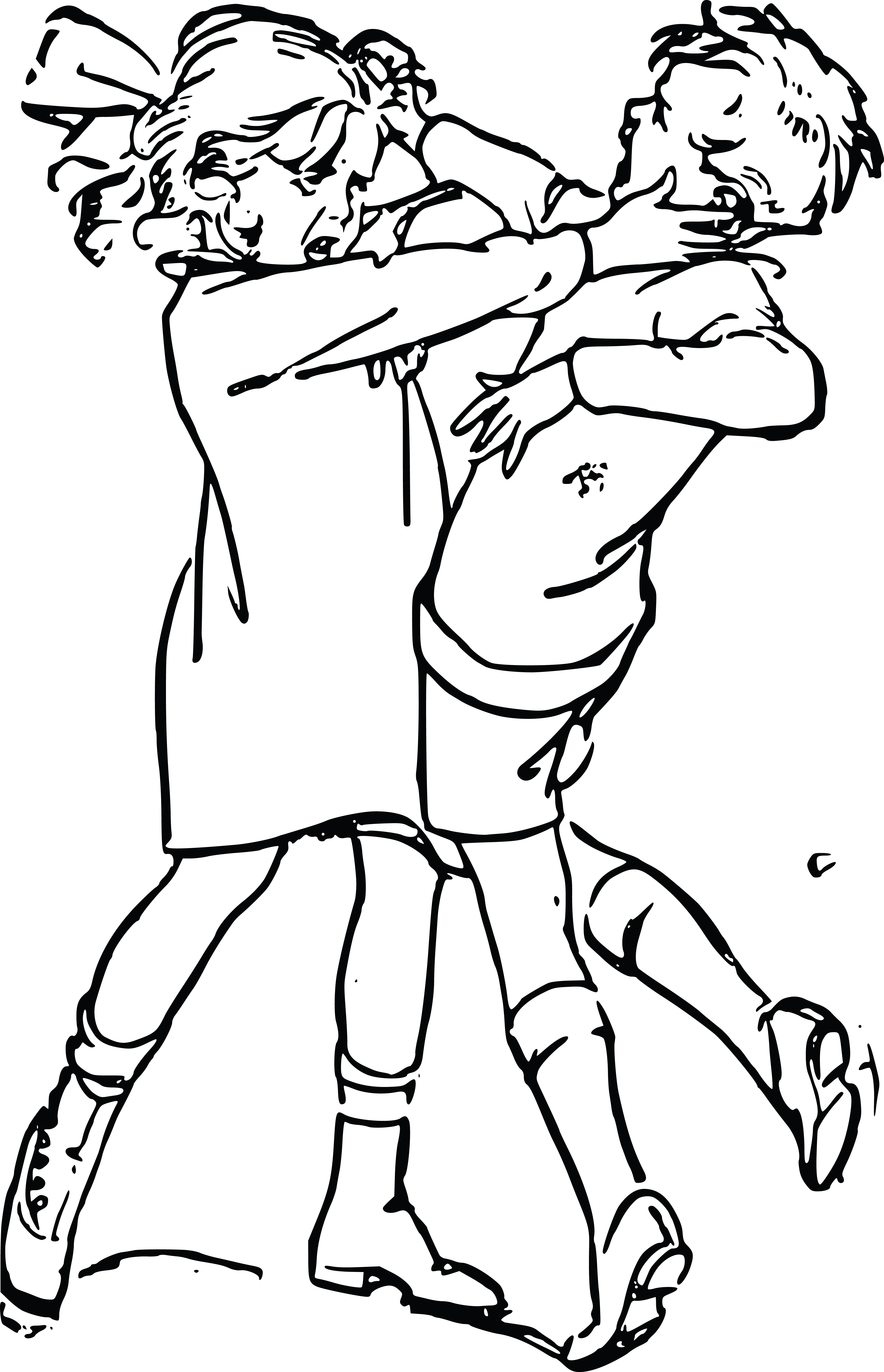 Girl fighting at getdrawings. Battle clipart drawing