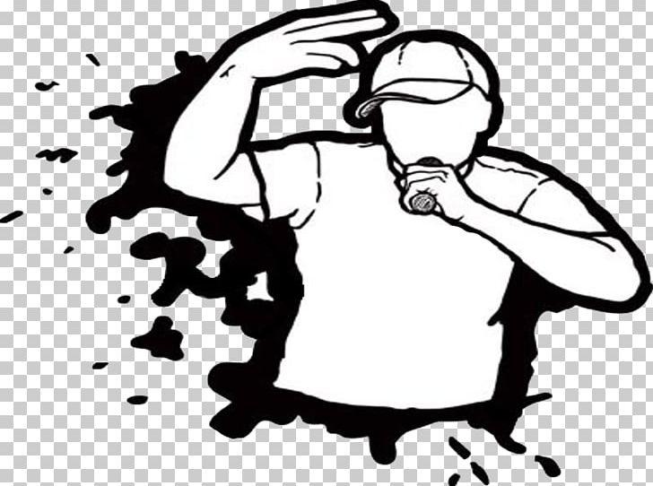 Rapper hip hop music. Battle clipart drawing