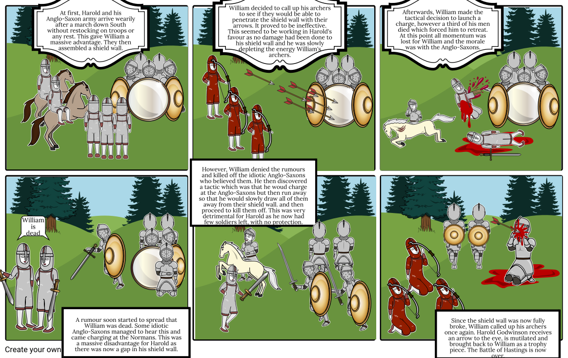 Of storyboard by dylan. Battle clipart hastings clipart
