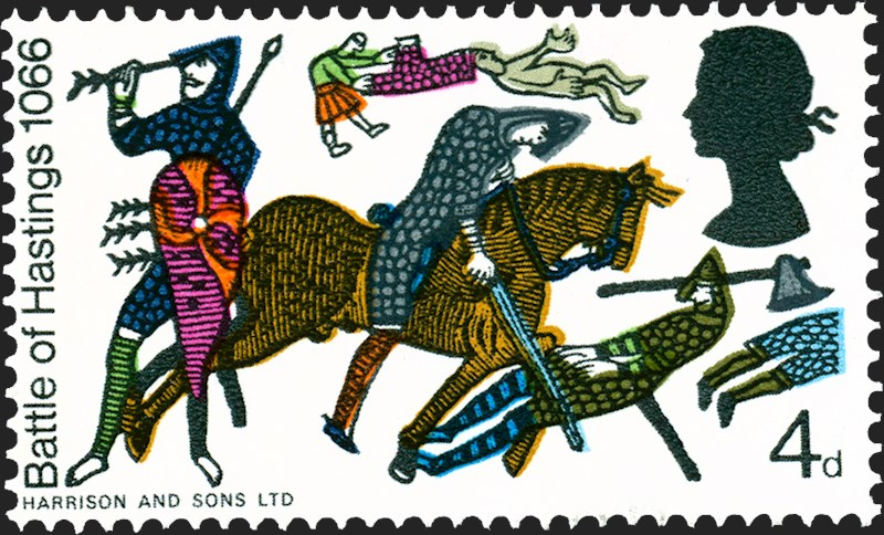 Royal mail special stamps. Battle clipart hastings clipart