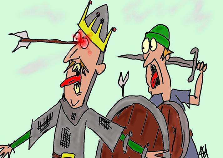 Battle clipart hastings clipart. King harold arrow in