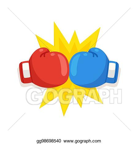 Eps vector gloves icon. Boxing clipart boxing fight