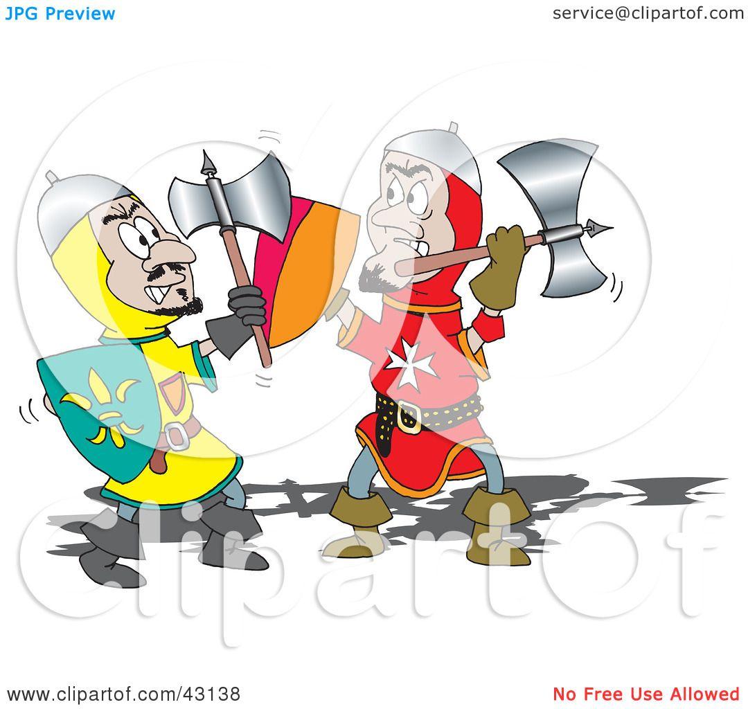 Battle clipart knight battle. Image group illustration of