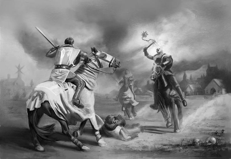 Battle clipart knight battle. Medieval vector clip art