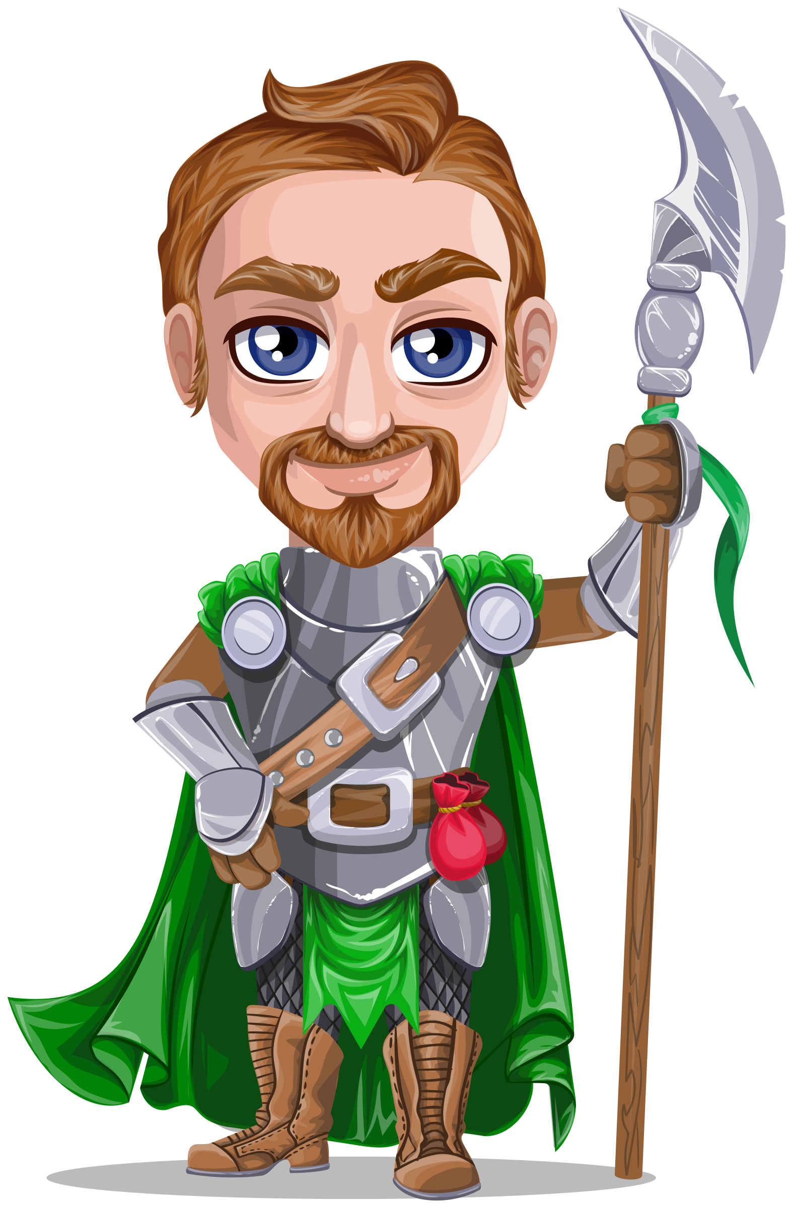 Warrior in holding battle. Medieval clipart knight armor
