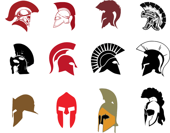 Battle clipart medieval army. Helmet silhouette at getdrawings