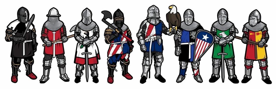 Armored combat league picture. Battle clipart medieval war