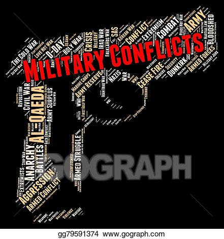 Stock illustration armed conflict. Battle clipart military