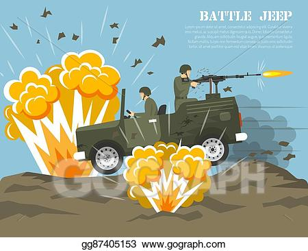 Vector stock army environment. Battle clipart military