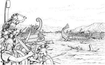Of salamis during the. Battle clipart persian war