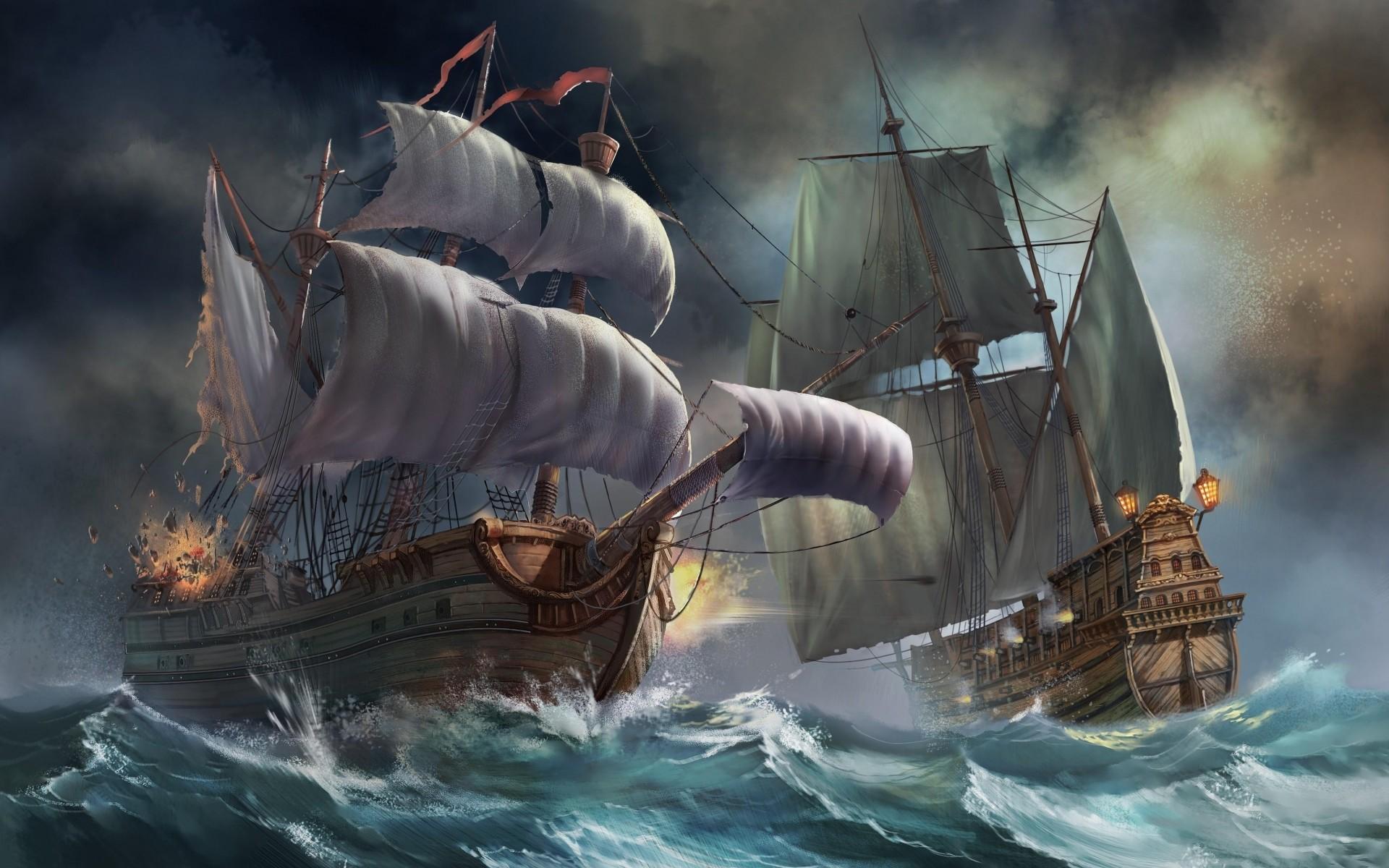 Ships wallpaper images x. Battle clipart pirate ship