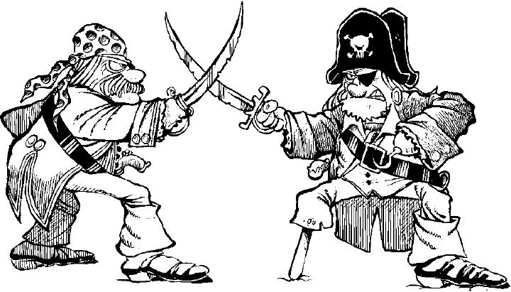 Pirates drawing at getdrawings. Battle clipart pirate ship