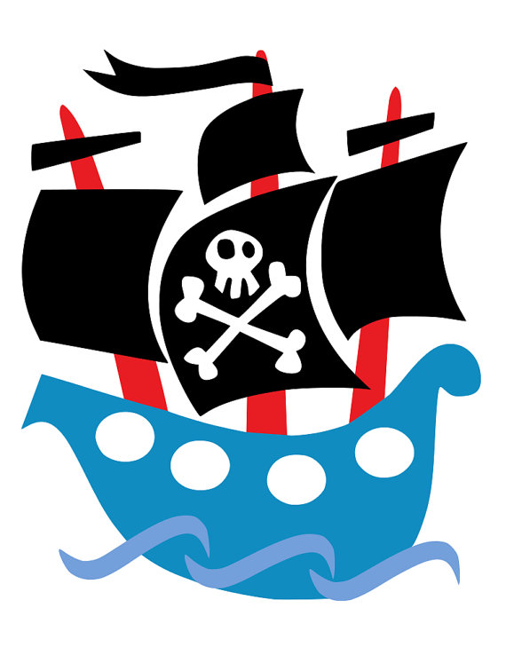 Simple silhouette at getdrawings. Battle clipart pirate ship