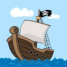 Image result for cartoon. Battle clipart pirate ship
