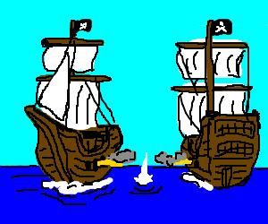 Battle clipart pirate ship. Cartoon free download best
