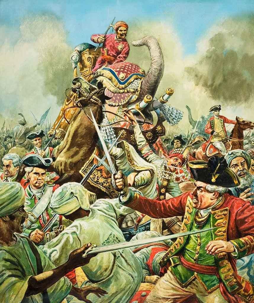 Battle clipart plassey. Of indian history world