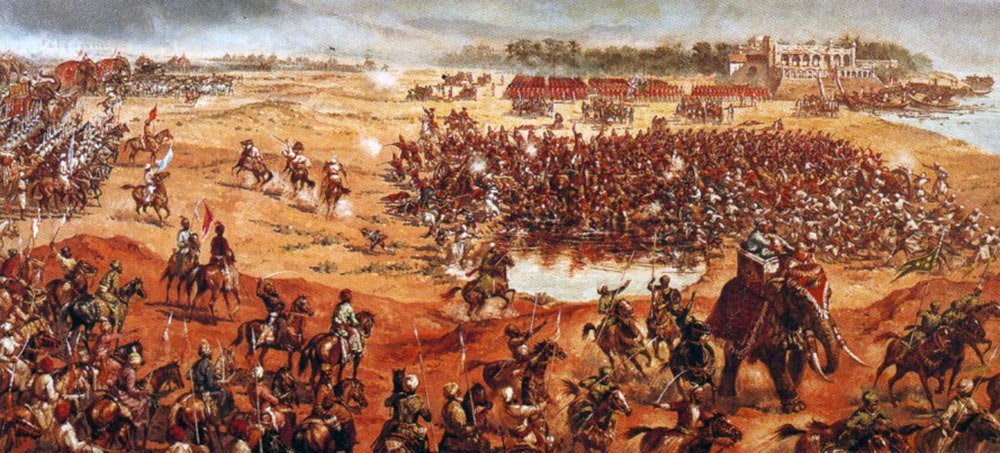 Of india history military. Battle clipart plassey