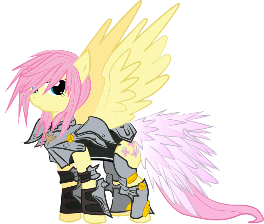 Knight clipart protector. Fluttershy of celestia by