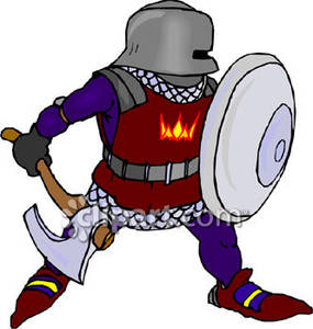 Protector clipground holding a. Knights clipart knight battle