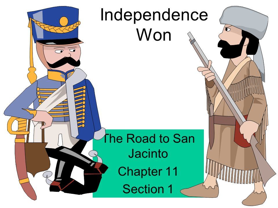 Battle clipart san jacinto. Independence won the road