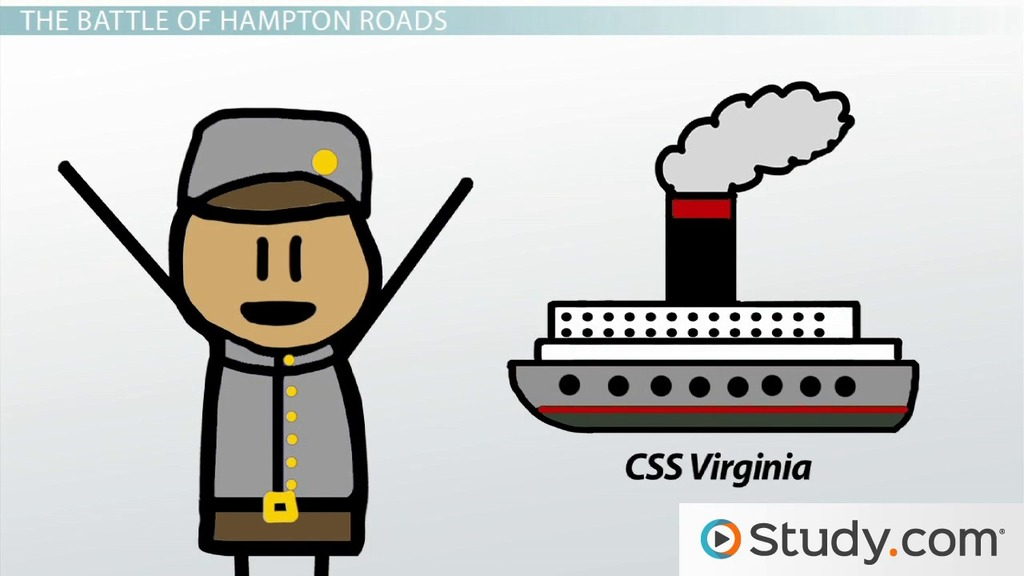 The of hampton roads. Battle clipart simple