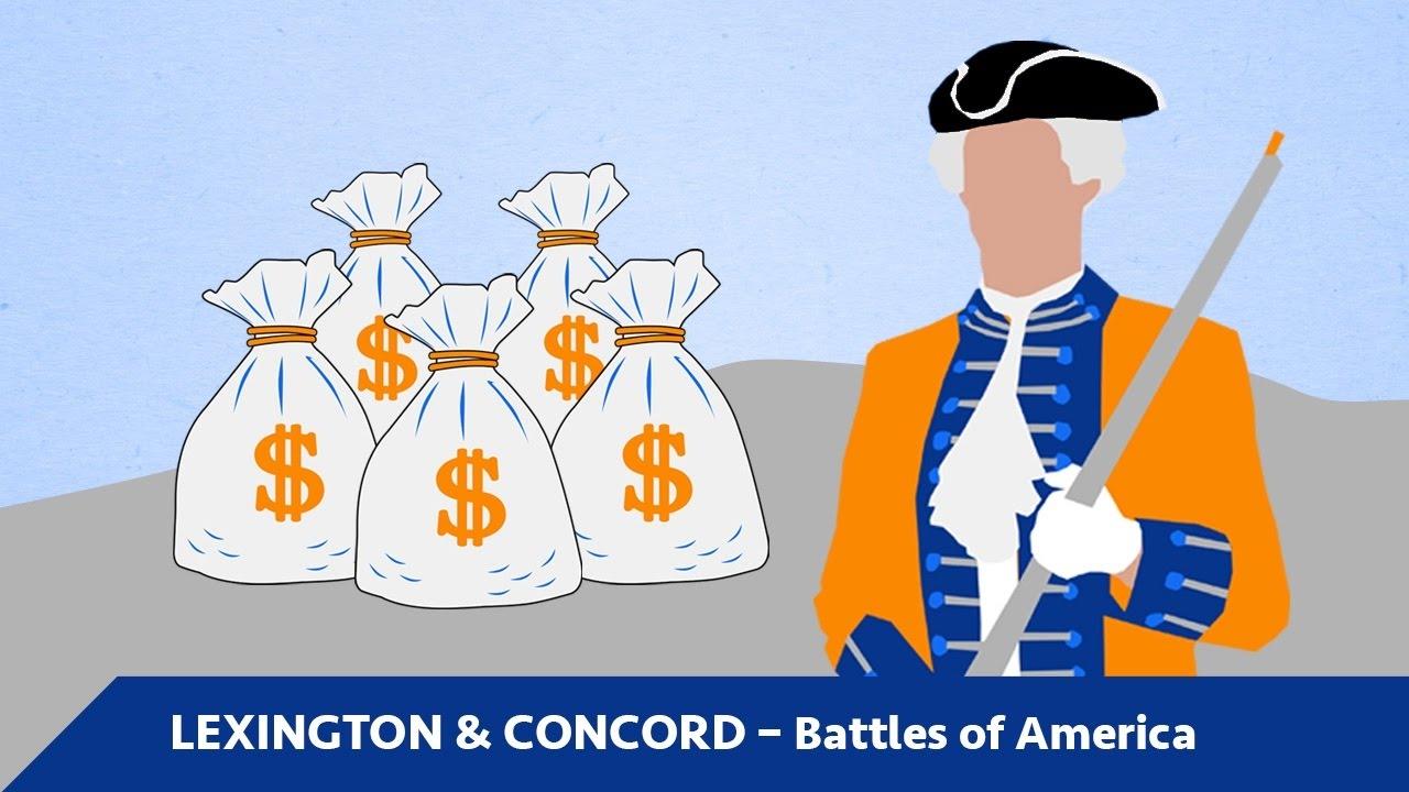 Battle clipart simple. Lexington concord battles of