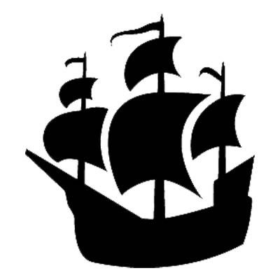 Battle clipart simple. Pirate ship silhouette at