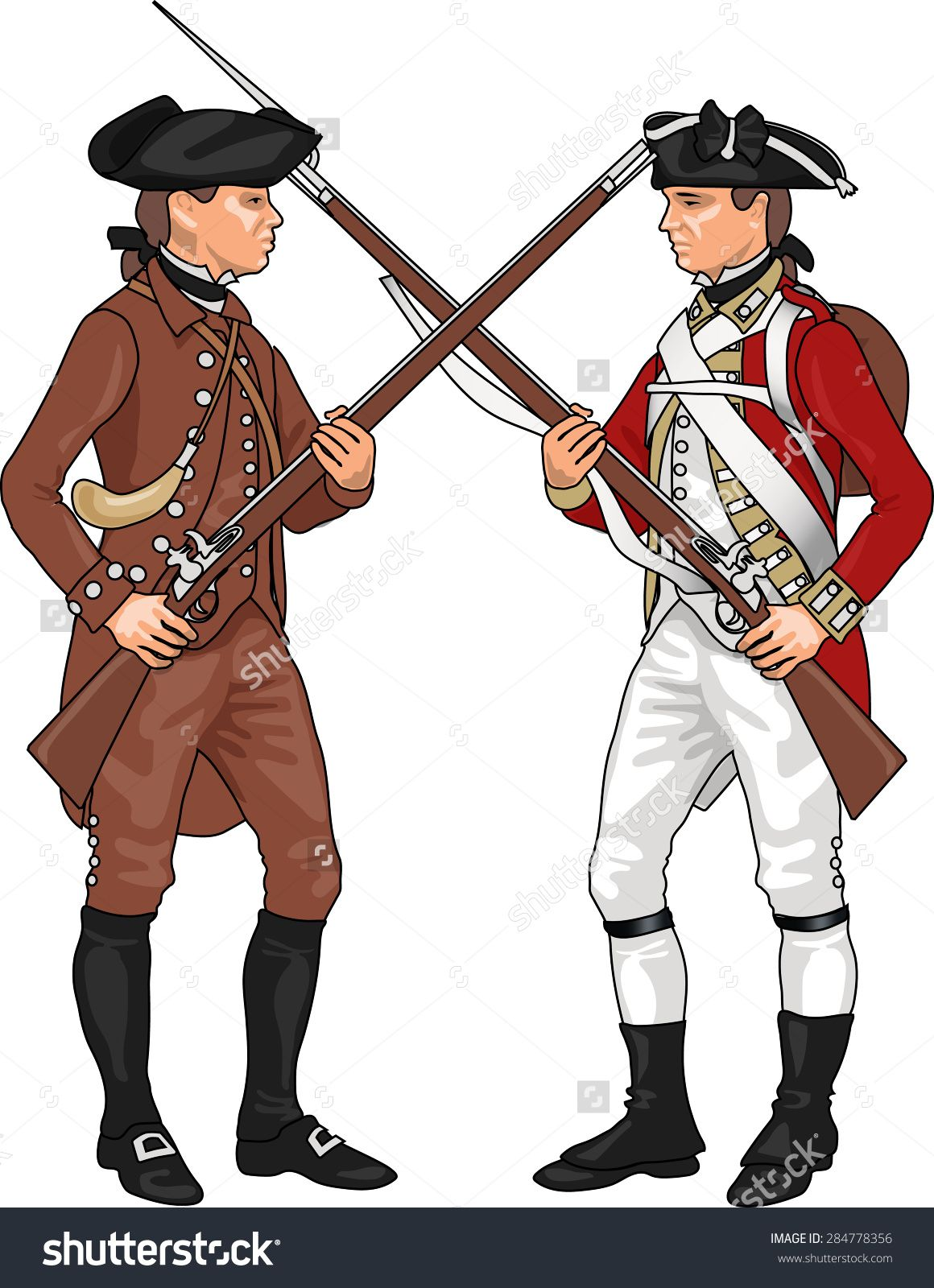 British soldier revolutionary war. Military clipart history american