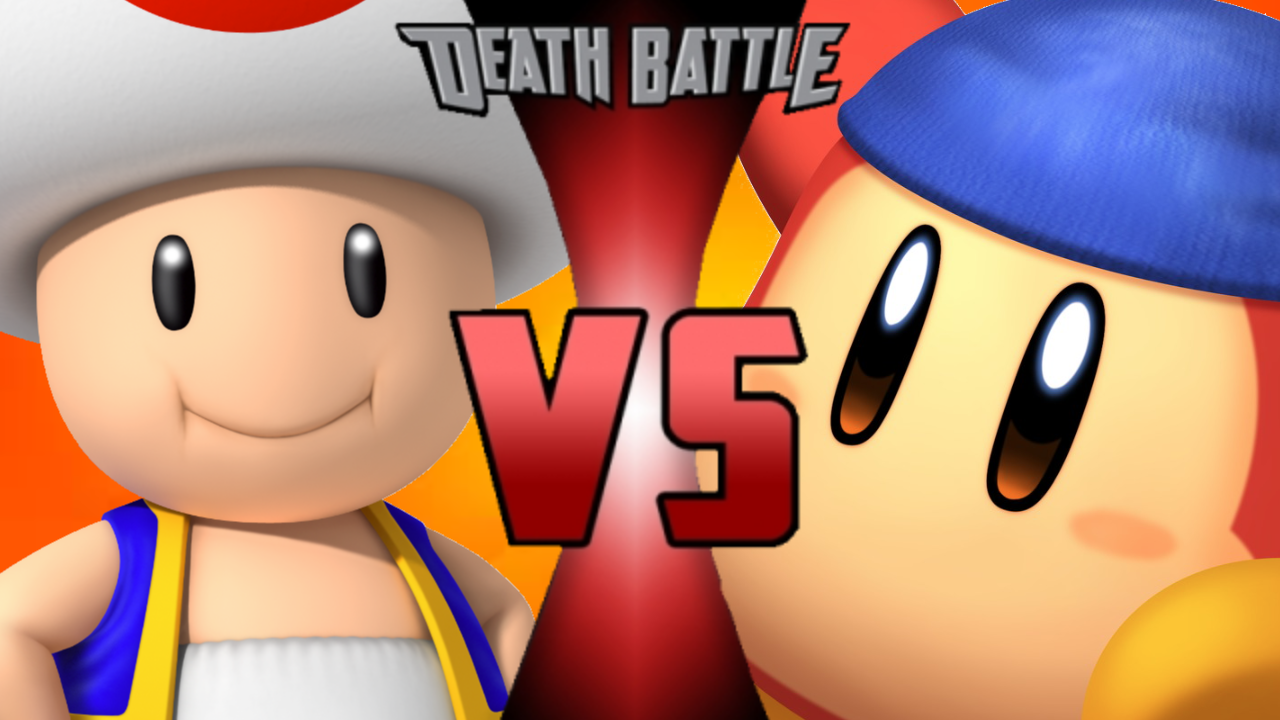 Toad vs dee death. Battle clipart spear