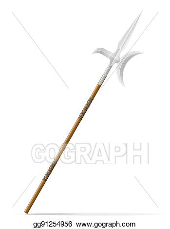 Battle clipart spear. Drawing medieval stock illustration