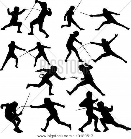 Fighting poses for drawing. Battle clipart sword fight