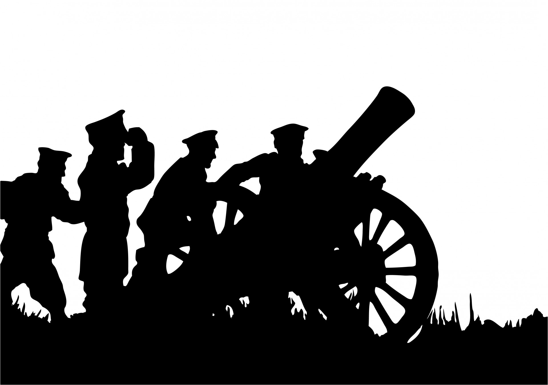 With canon free stock. Soldiers clipart