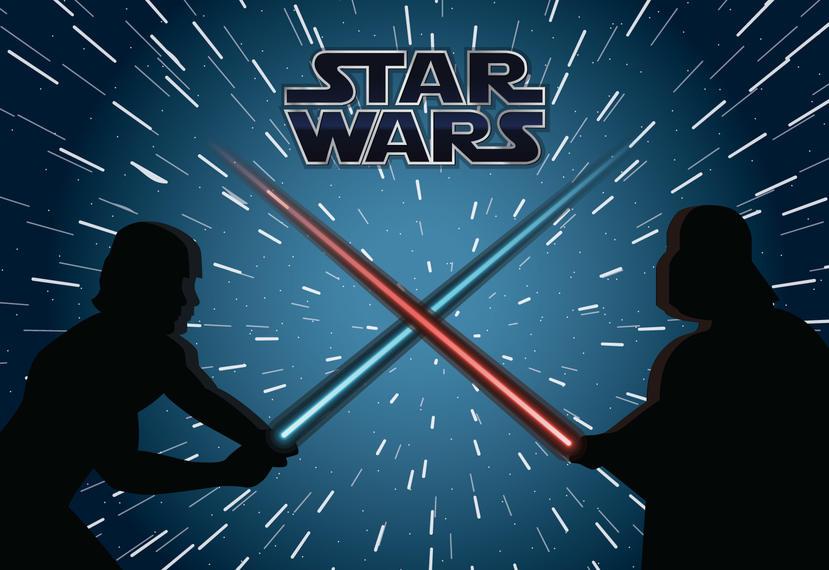 Star wars fight illustration. Battle clipart war fighting