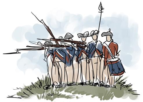 Battle clipart warfare. Fife drum and bugle