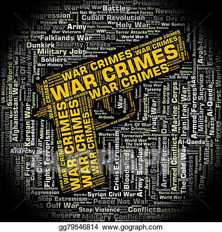 Battle clipart warfare. Stock illustration war crimes