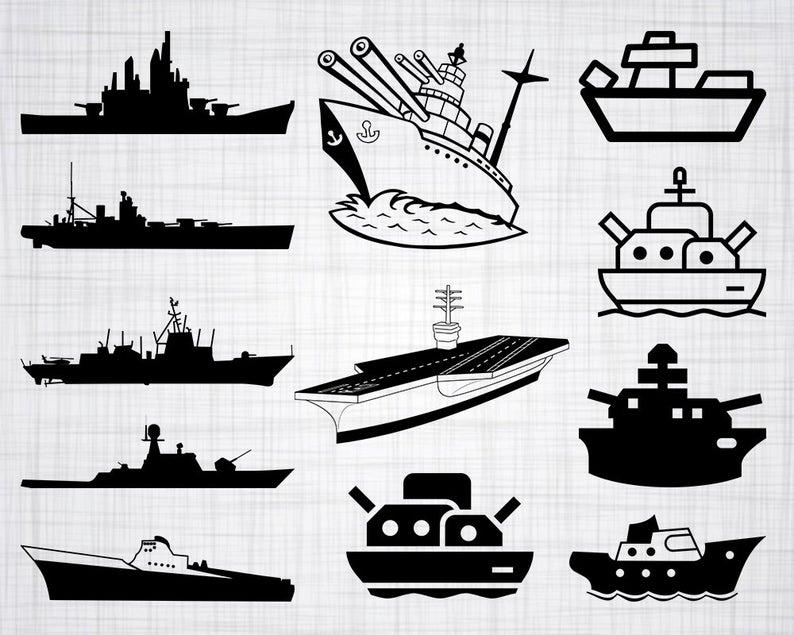 Svg bundle cut files. Battleship clipart