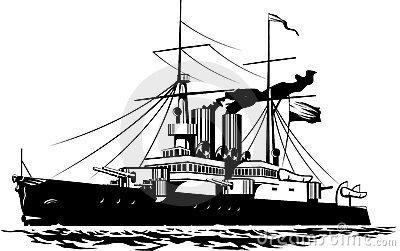 . Battleship clipart