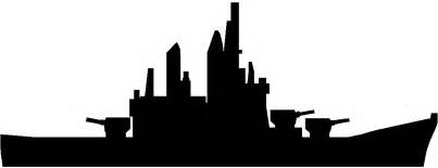 Ww silhouette at getdrawings. Battleship clipart black and white
