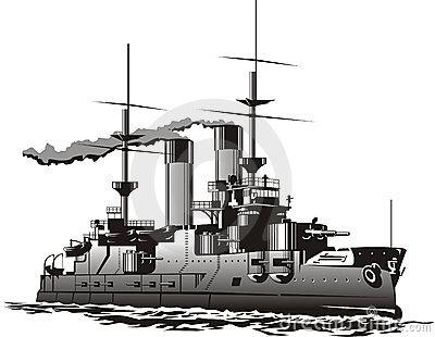 . Battleship clipart black and white
