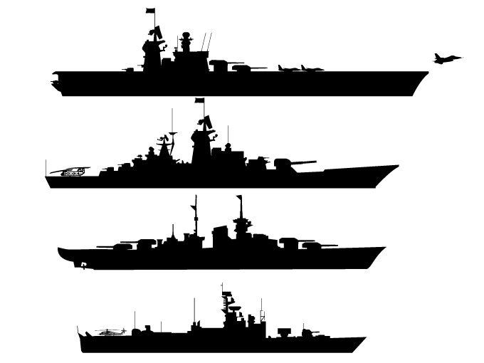 Silhouettes free vector graphics. Battleship clipart black and white