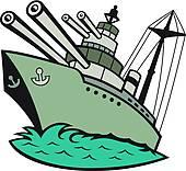 Eps images . Battleship clipart clip art